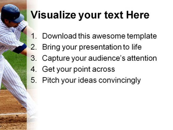 baseball sports powerpoint template 0610 powerpoint templates
