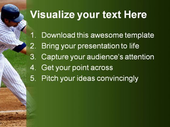 baseball sports powerpoint template 0610 | powerpoint templates, Powerpoint templates