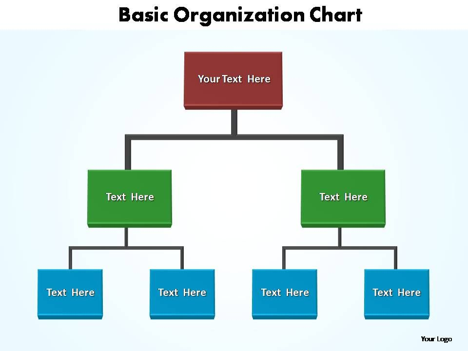 Basic Organization Chart Editable Powerpoint Templates  Powerpoint