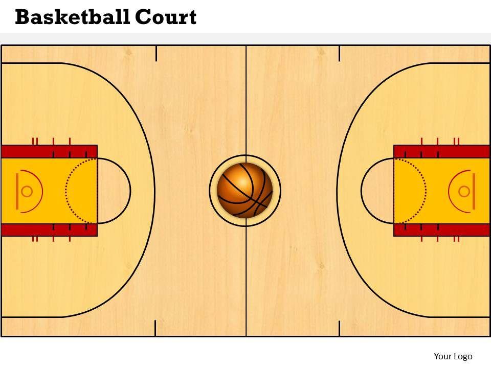 basketball court powerpoint template slide powerpoint presentation