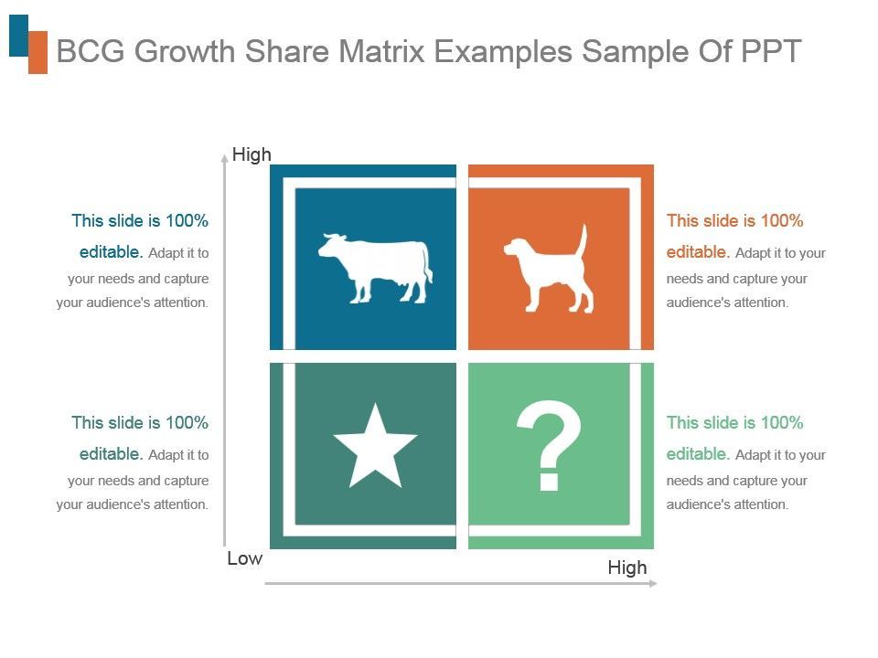 Bcg Growth Share Matrix Examples Sample Of Ppt | PowerPoint