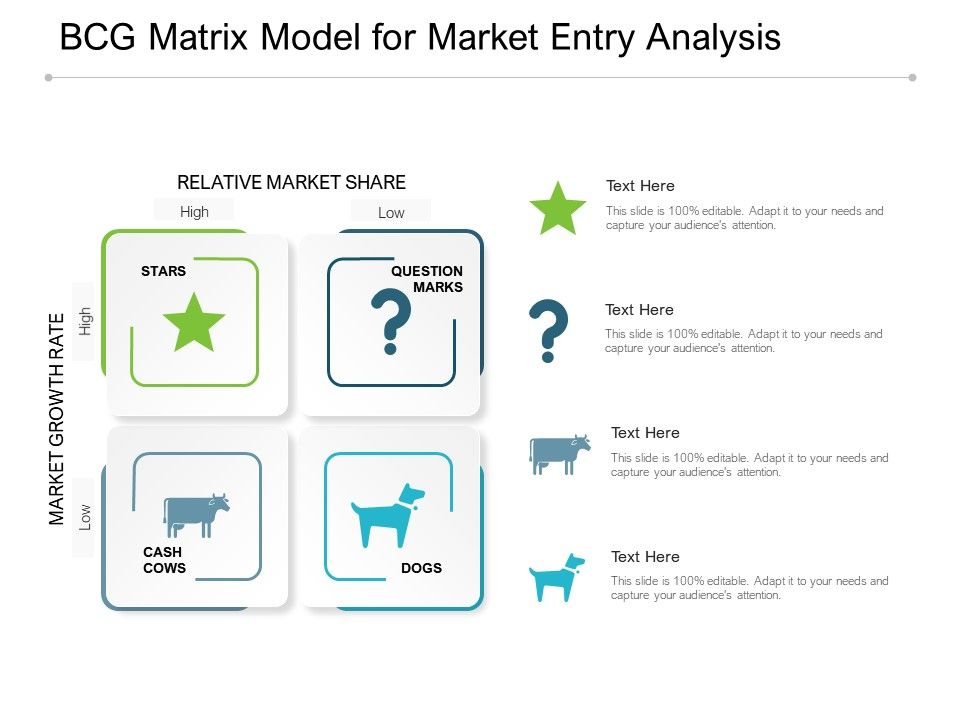 BCG Matrix Model For Market Entry Analysis