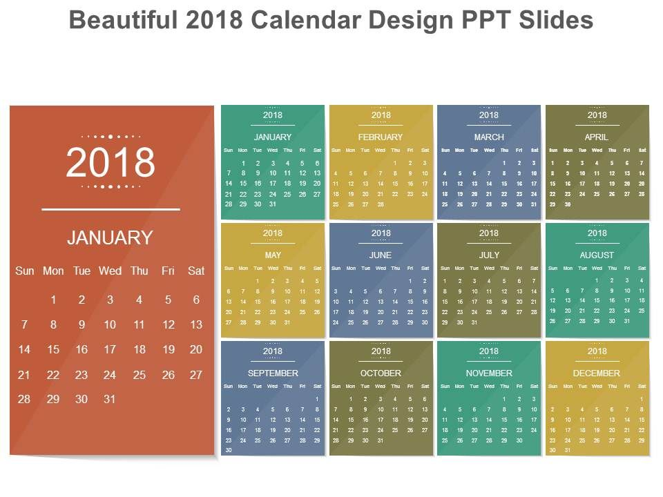 Beautiful Calendar Design : Beautiful calendar design ppt slides images