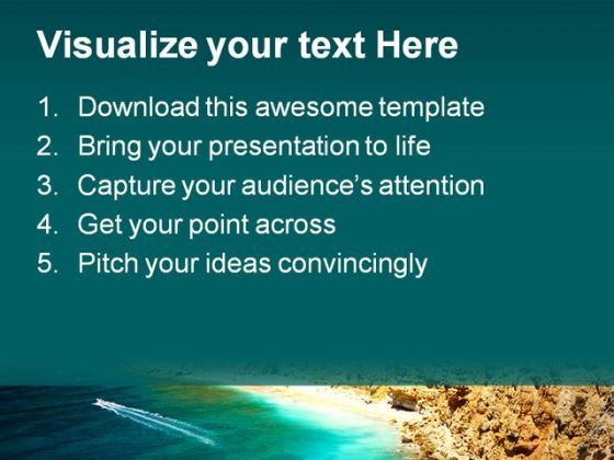 beautiful ocean nature powerpoint template 1110 | presentation, Powerpoint templates