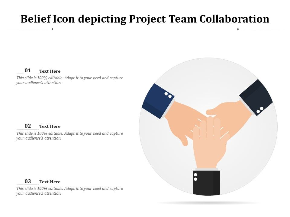 Belief Icon Depicting Project Team Collaboration