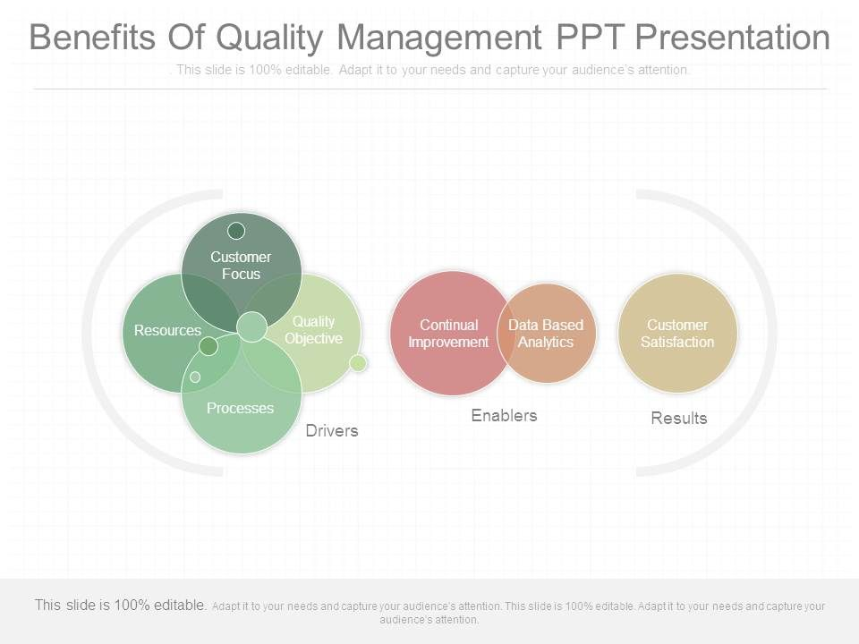 Quality assurance powerpoint templates quality assurance plan ppt benefits of quality presenting benefits of quality management ppt presentation toneelgroepblik Image collections