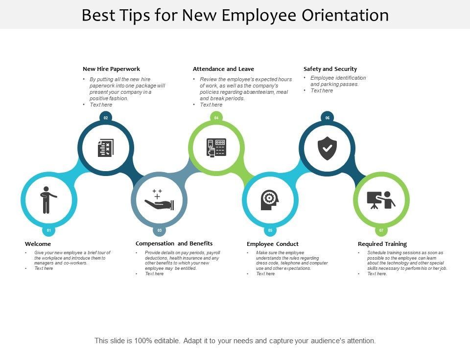 best tips for new employee orientation
