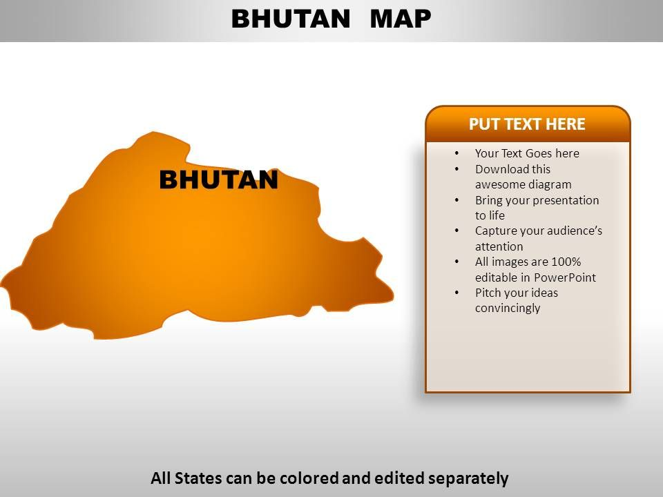bhutan_country_powerpoint_maps_Slide01