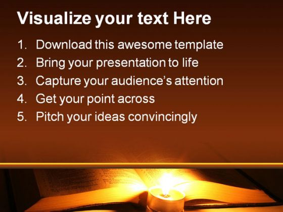 Bible Religion PowerPoint Template 0610 | PPT Images Gallery ...