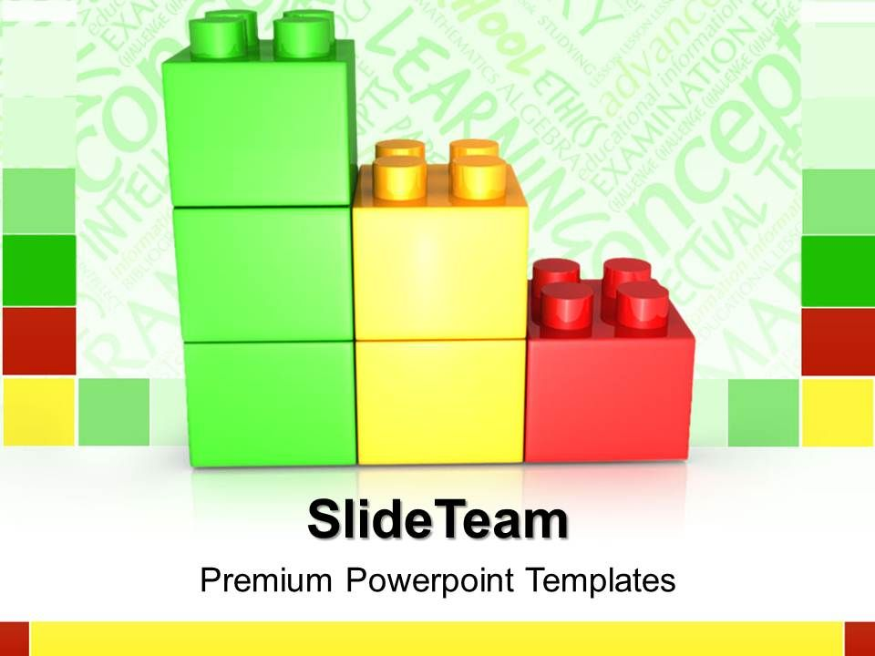 Big building blocks powerpoint templates lego bar graph for Boring but big template
