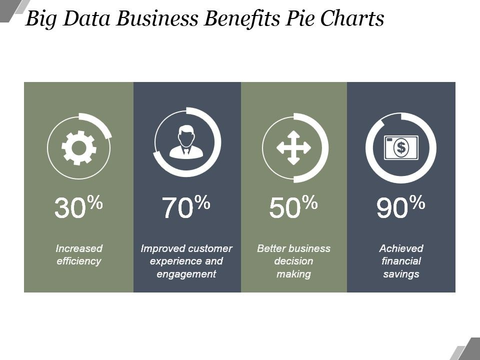 Big Data Business Benefits Pie Charts Sample Of Ppt Presentation
