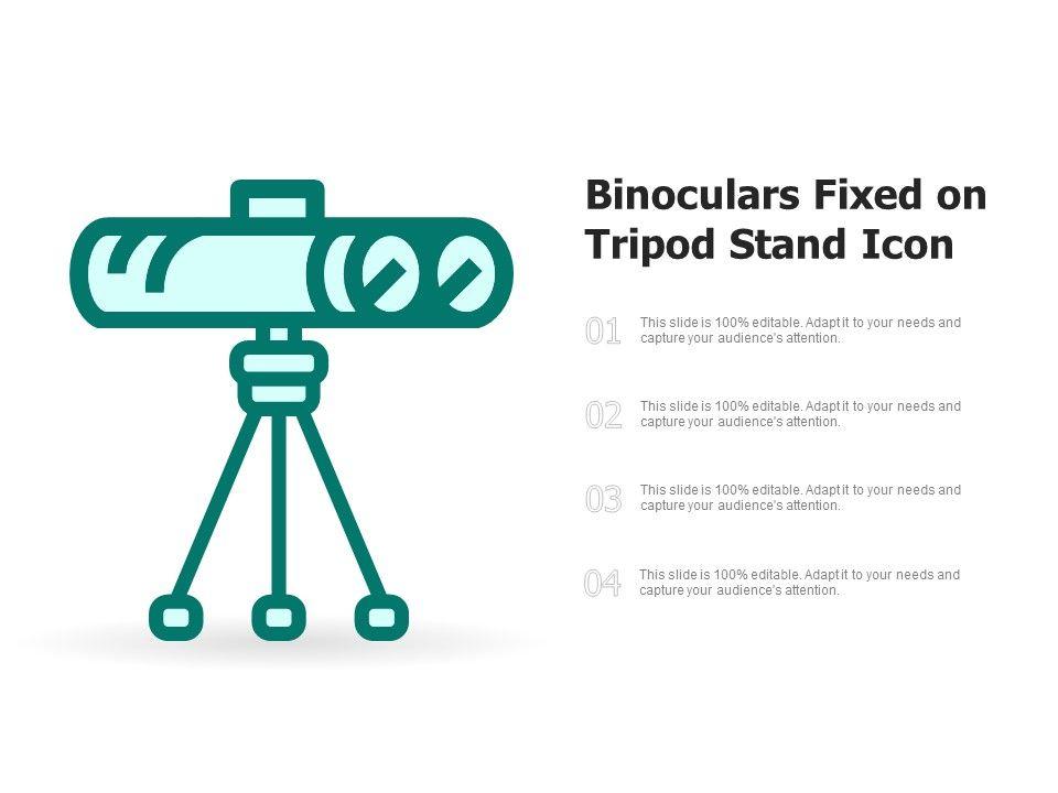Binoculars Fixed On Tripod Stand Icon
