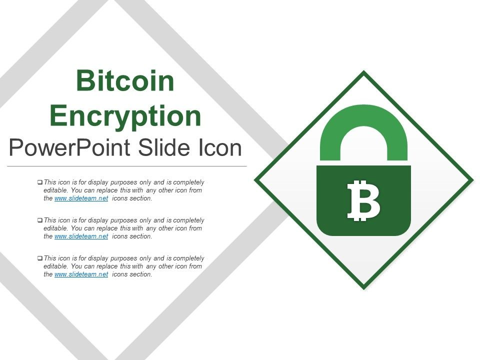 Bitcoin Encryption Powerpoint Slide Icon | PPT Images