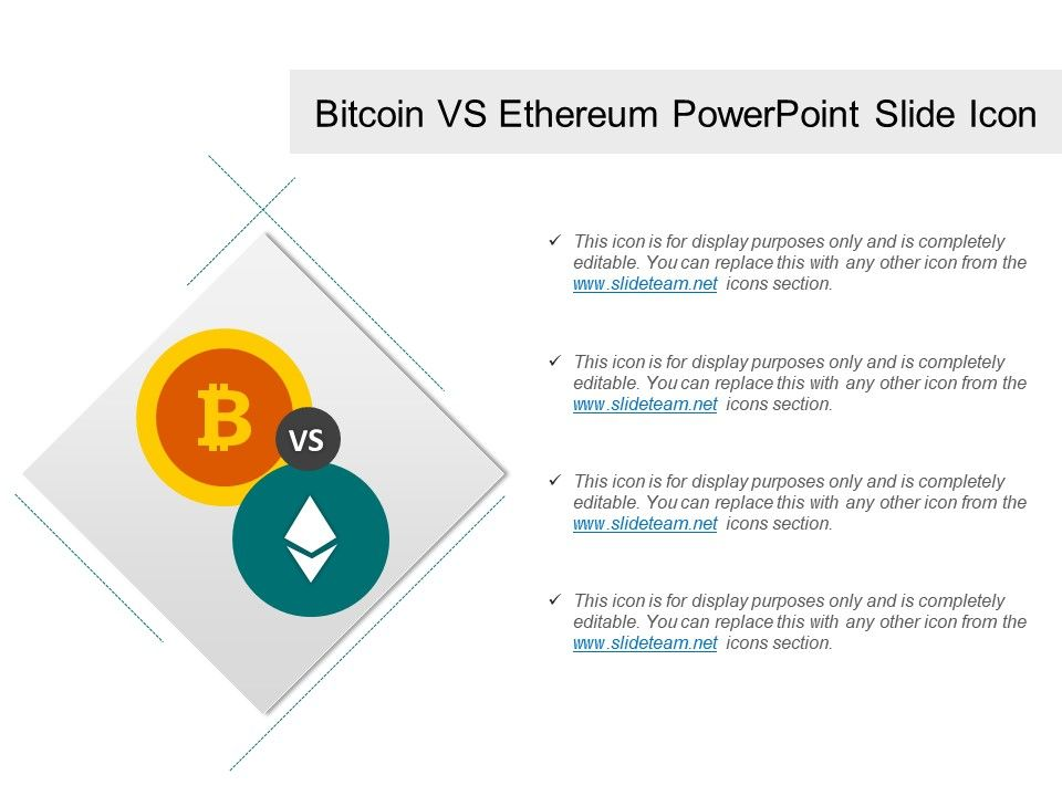 bitcoin vs ethereum powerpoint slide icon powerpoint presentation designs slide ppt graphics. Black Bedroom Furniture Sets. Home Design Ideas