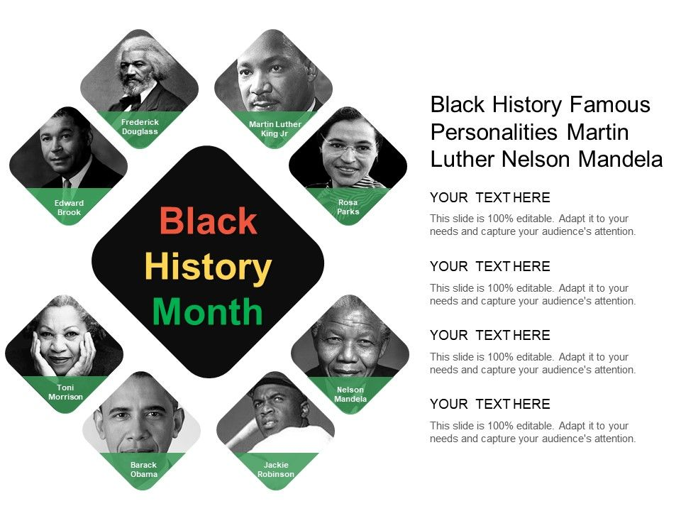 Black History Famous Personalities Martin Luther Nelson