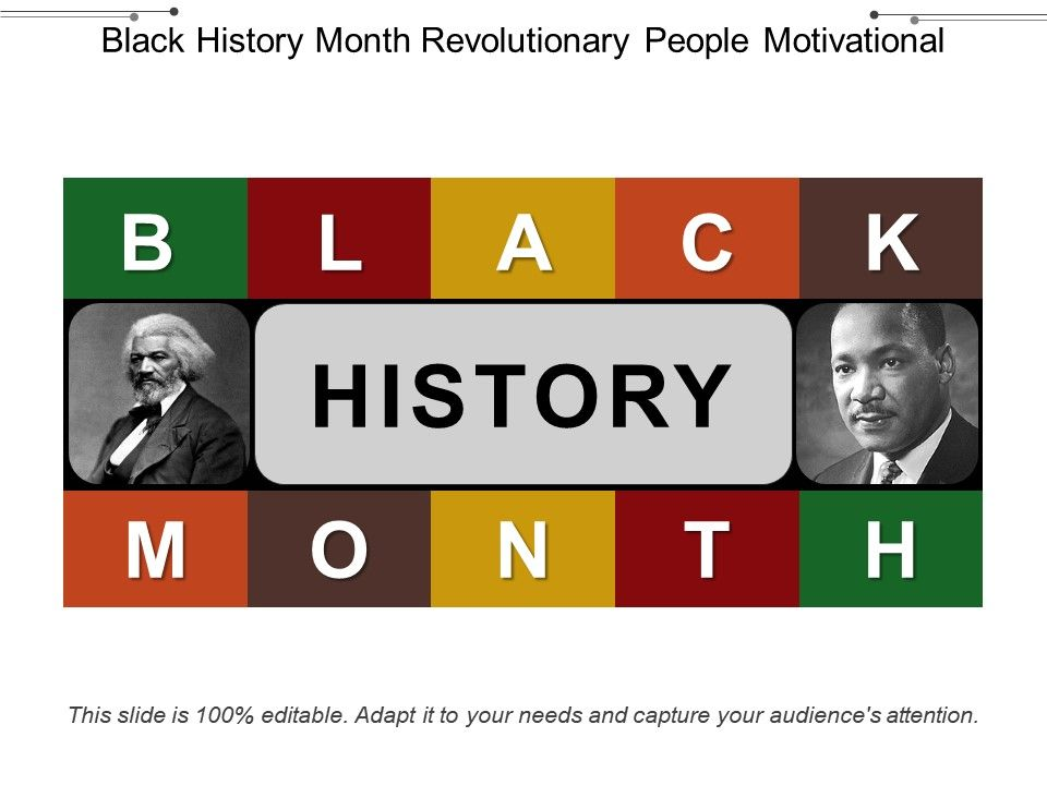Black History Month Revolutionary People Motivational Powerpoint Presentation Sample Example Of Ppt Presentation Presentation Background
