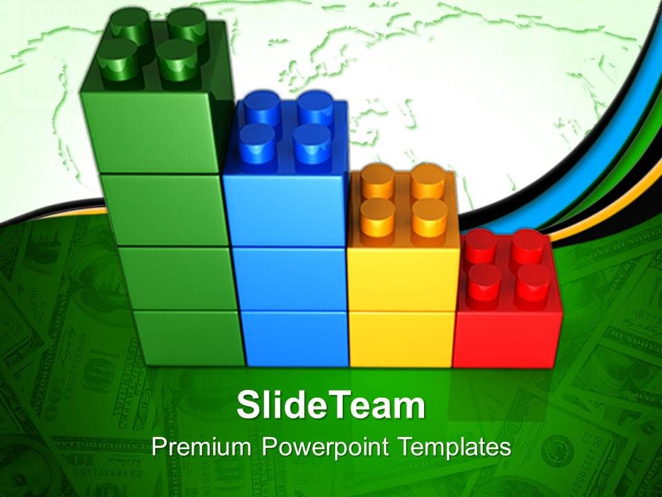 Blocks building powerpoint templates lego bar graph for Lego digital designer templates
