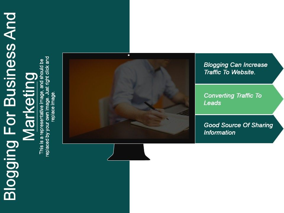 blogging for business and marketing good ppt example powerpoint