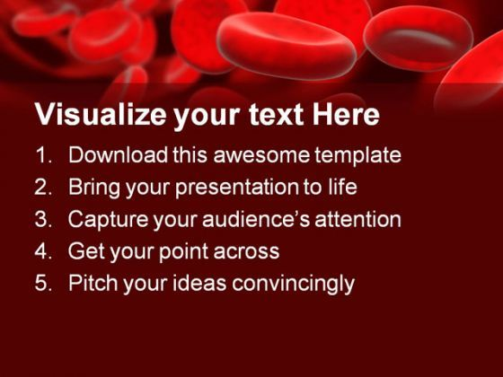 blood cells medical powerpoint template 0610 presentation themes and