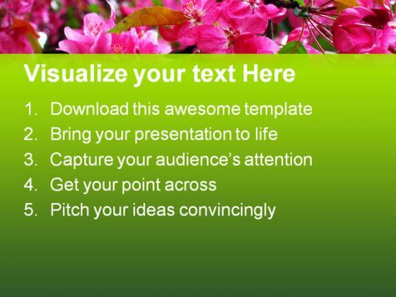 blossoming pink flowers beauty powerpoint templates and powerpoint backgrounds 0311 presentation themes and graphics slide02