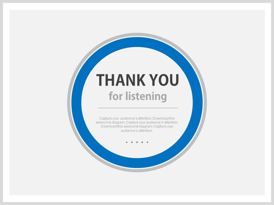 Blue Background Thank You Slide For Listening Powerpoint Slides | PowerPoint  Presentation Designs | Slide PPT Graphics | Presentation Template Designs