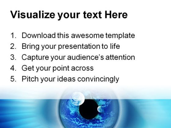 blue binary eye business powerpoint template 0810 | powerpoint, Presentation templates