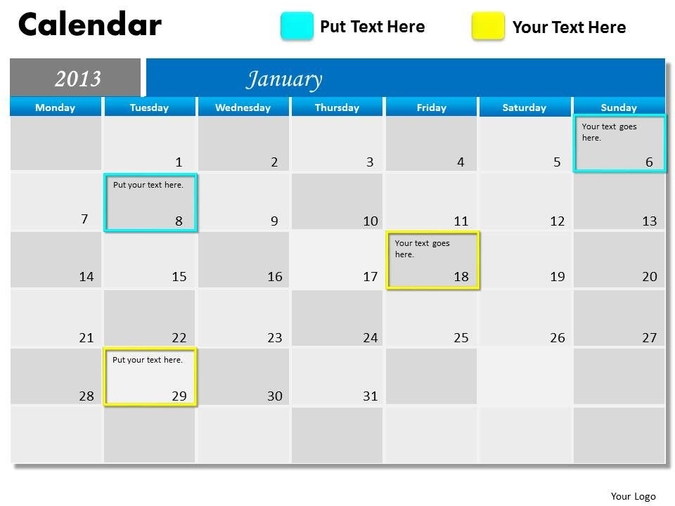 Blue monthly calendar 2013 powerpoint slides ppt templates bluemonthlycalendar2013powerpointslidesppttemplatesslide01 bluemonthlycalendar2013powerpointslidesppttemplatesslide02 toneelgroepblik Images