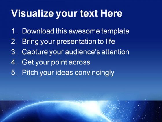 blue planet science powerpoint template 1010 | powerpoint design, Presentation templates
