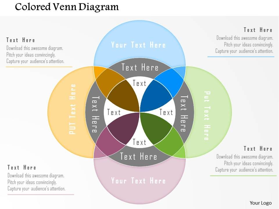 Bm Colored Venn Diagram Powerpoint Template Powerpoint Slide