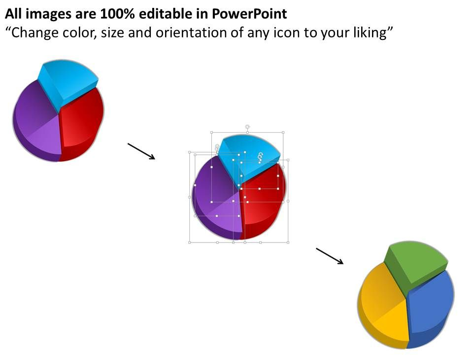 Bm Pie Chart With Multiple Percentage Values Powerpoint Template Slide02