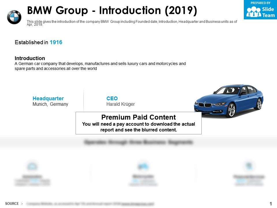 BMW group introduction 2019