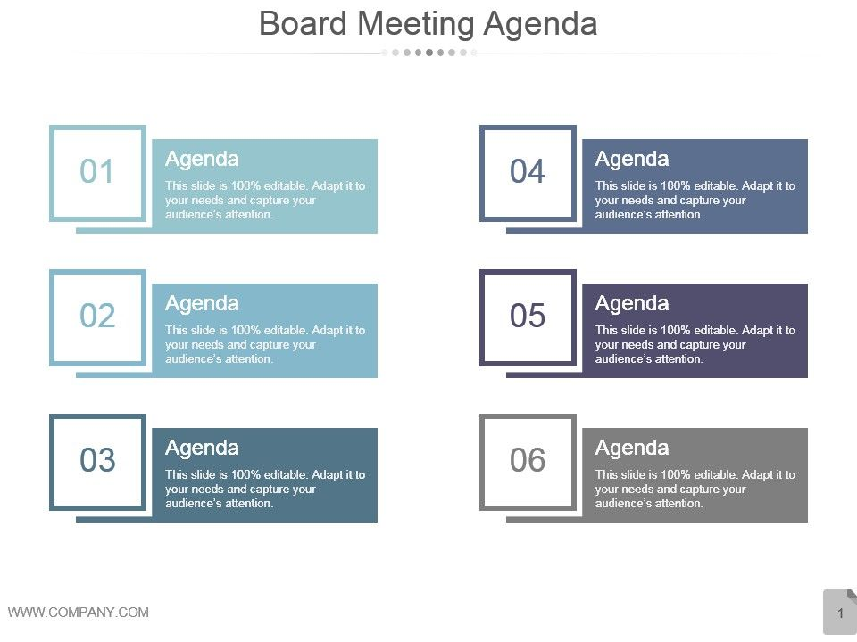 board meeting agenda ppt presentation presentation examples, Modern powerpoint
