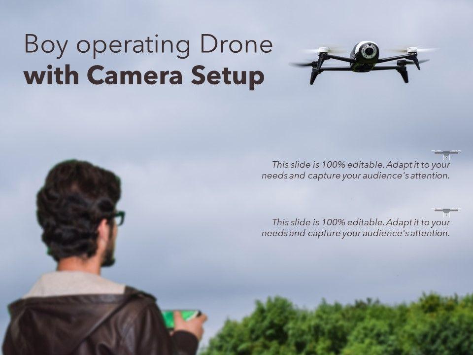 Boy Operating Drone With Camera Setup