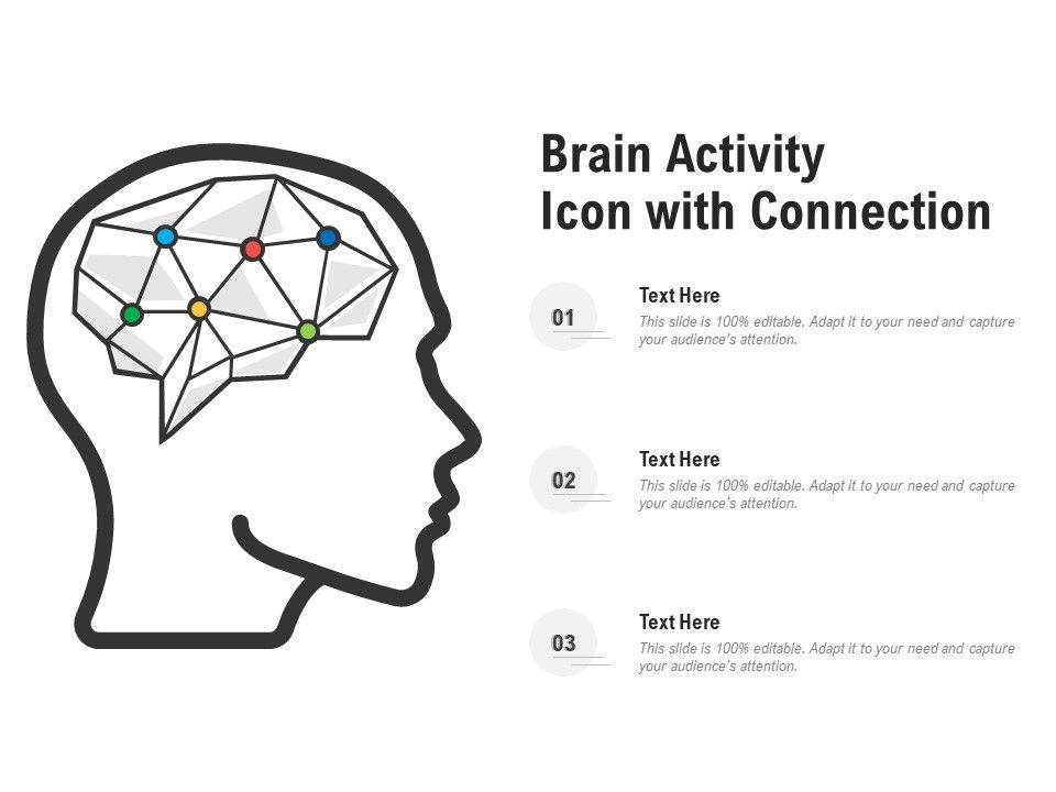 Brain Activity Icon With Connection