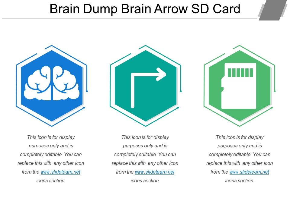 photo regarding Brain Dump Template referred to as 56354827 Structure Hierarchy Brain-Map 3 Piece Powerpoint