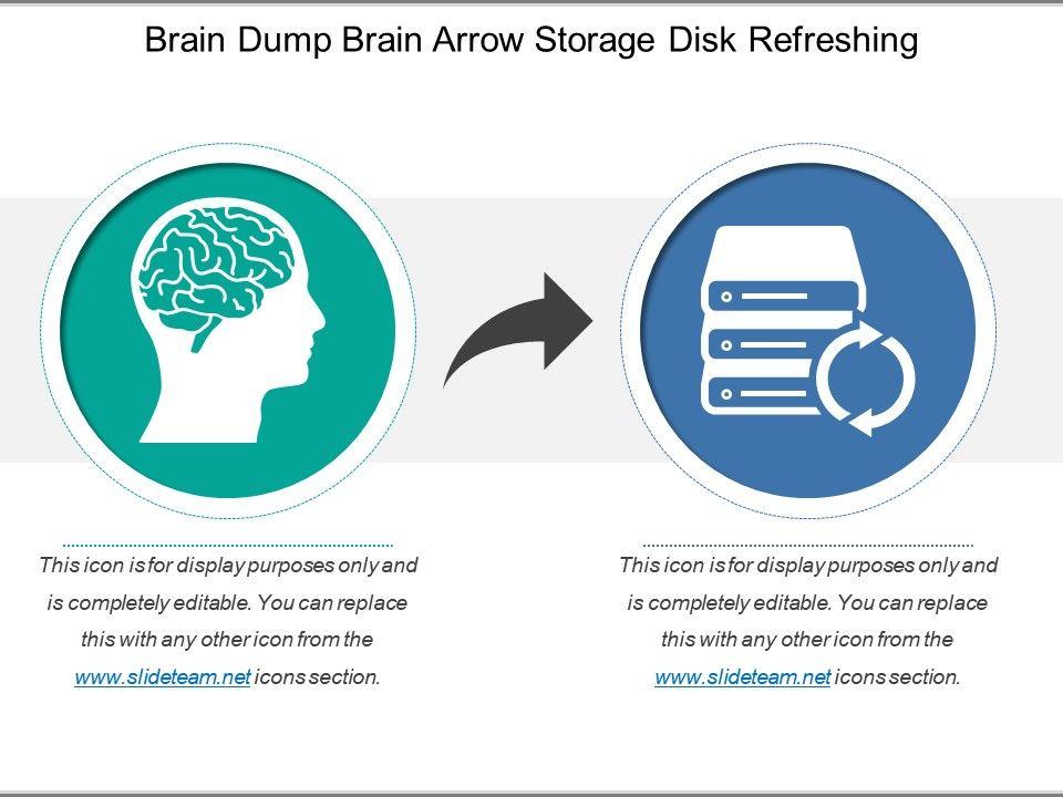 picture about Brain Dump Template titled Head Dump Head Arrow Storage Disk Fresh PowerPoint
