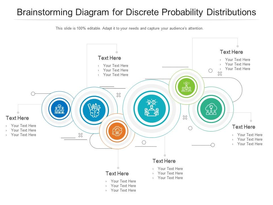 Brainstorming Diagram For Discrete Probability Distributions Infographic Template