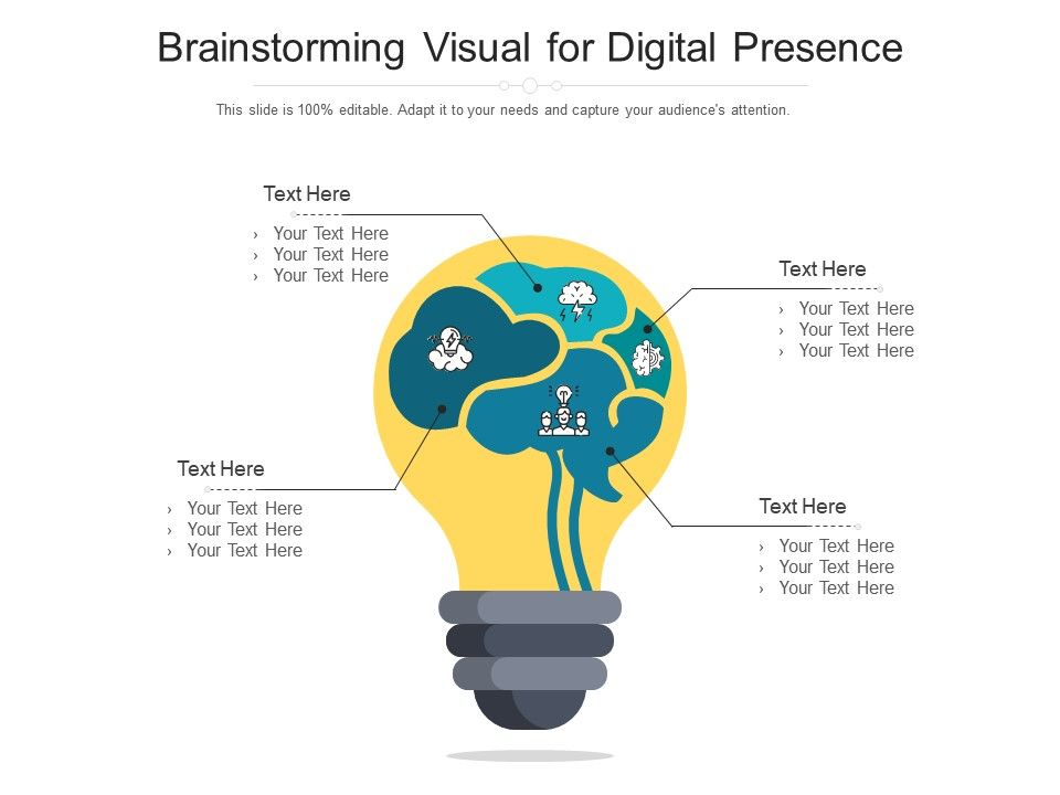 Brainstorming Visual For Digital Presence Infographic Template