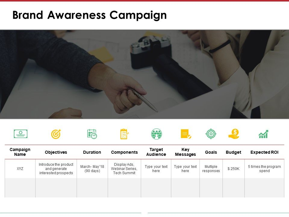 Brand Awareness Campaign Powerpoint Layout Templates 1 Slide01 Slide02