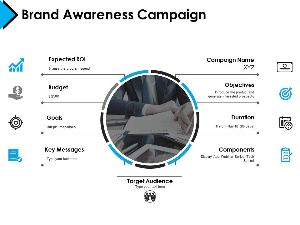 Brand Awareness Campaign Powerpoint Presentation Template 1 Slide01 Slide02