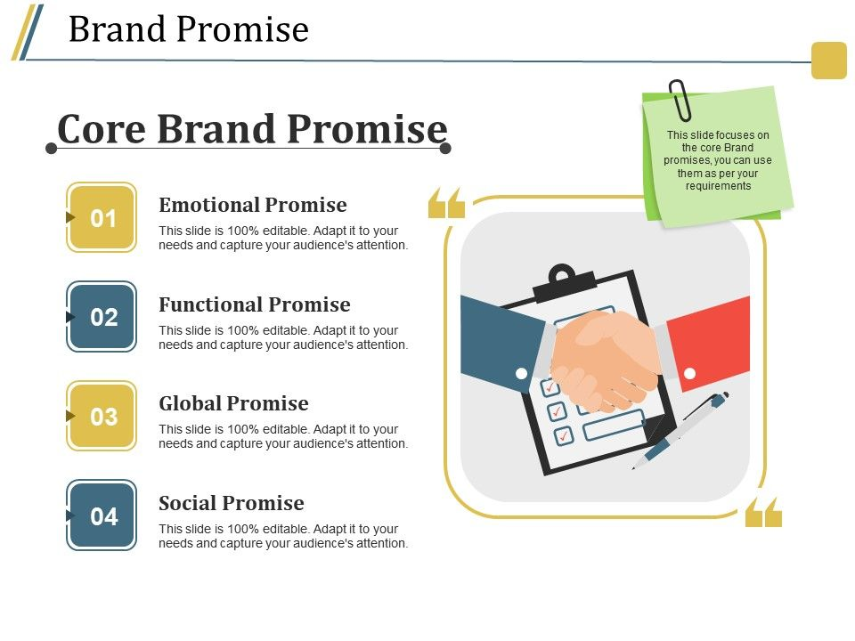 Brand Promise Ppt Background Powerpoint Design Template Sample