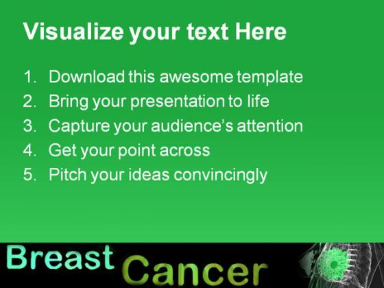 breast cancer health powerpoint templates and powerpoint, Powerpoint templates