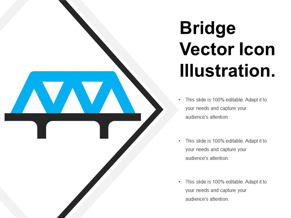 Bridge Vector Icon Illustration | PowerPoint Slide Clipart