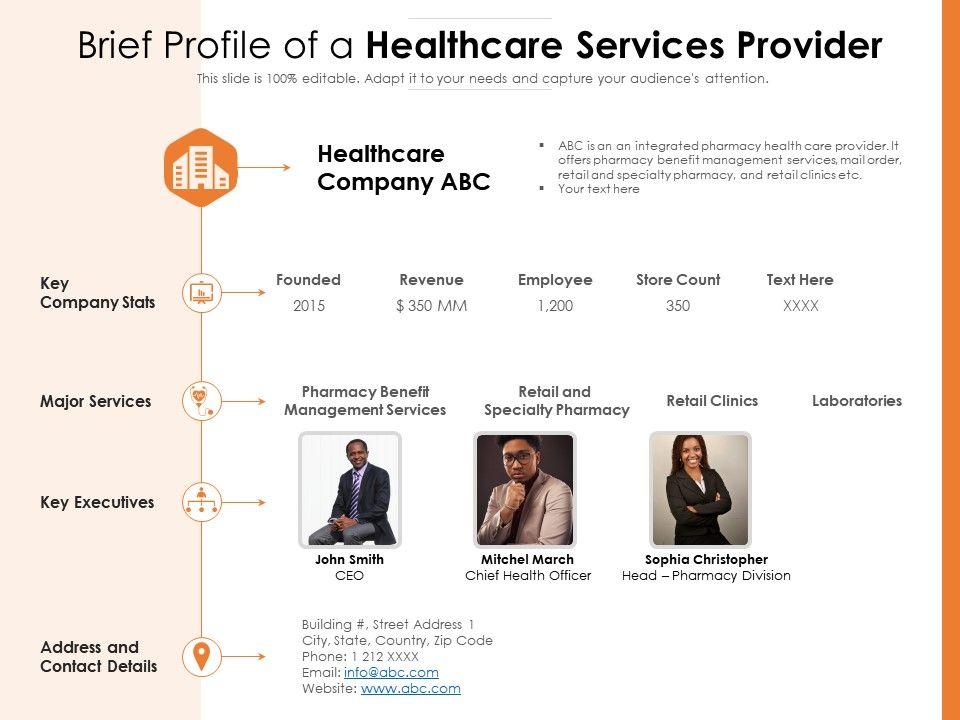 Brief Profile Of A Healthcare Services Provider
