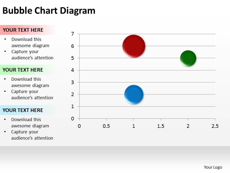 Bubble Chart On Axis Graph Diagram Powerpoint Diagram Templates