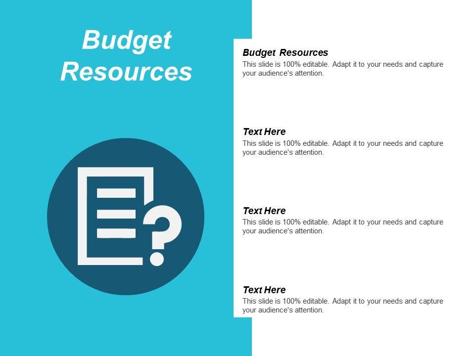 Budget Resources Ppt Powerpoint Presentation Ideas Layout