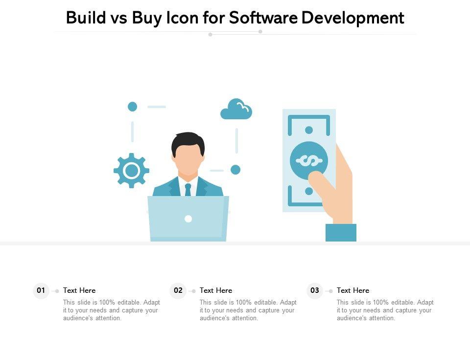 Build Vs Buy Icon For Software Development