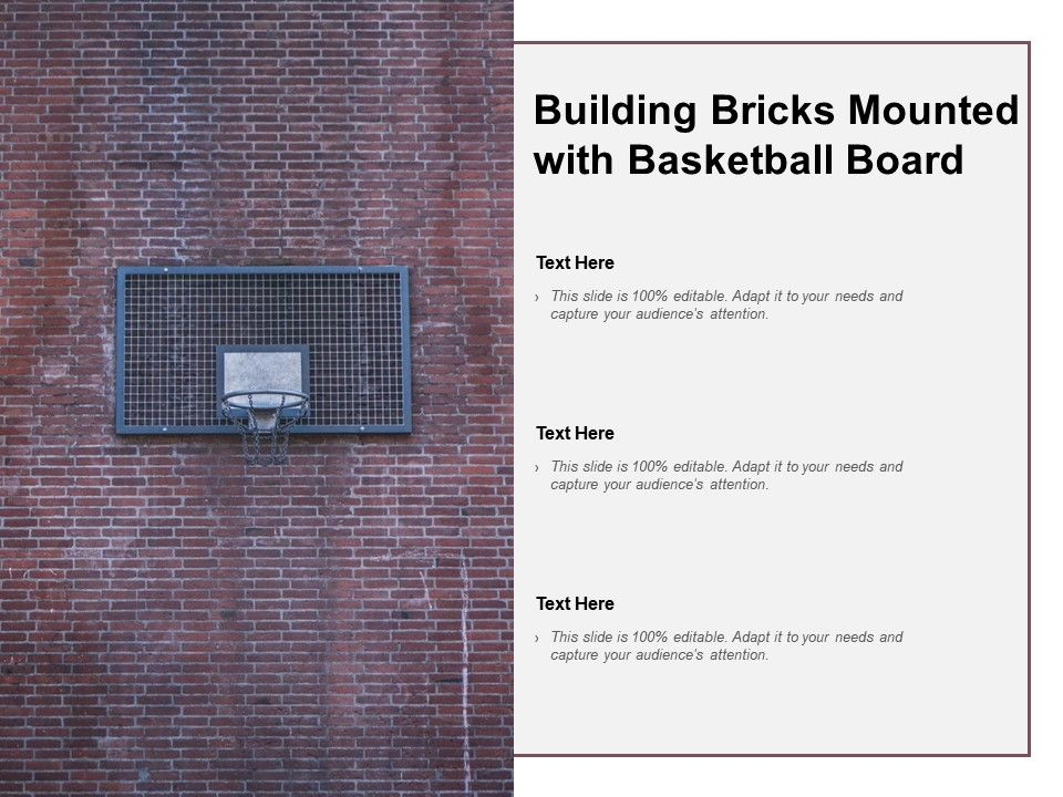 Building Bricks Mounted With Basketball Board | PowerPoint