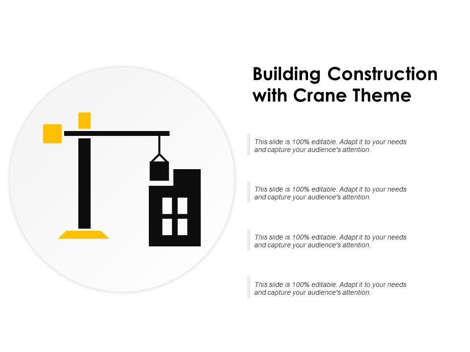 Building Construction With Crane Theme