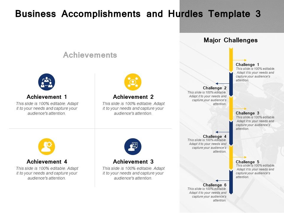 Business Accomplishments And Hurdles Template Planning Ppt Powerpoint Presentation File
